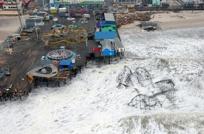 Sandy brought devastation to several seaside amusement parks in New Jersey and countless billions in damage elsewhere in the United States. Photo Credit: Master Sgt. Mark C. Olsen/U.S. Air Force/New Jersey National Guard.