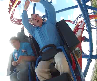 Coaster Expert Kris Rowberry gets his thrill on