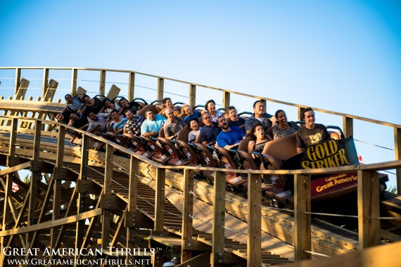Gold Striker at California's Great America. Photo (C) 2013 Kris Rowberry & Great American Thrills. All rights reserved.
