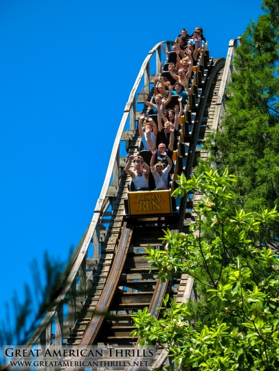 Thunder Run at Six Flags Kentucky Kingdom. Photo (c) 2013 Great american Thrills and Kris Rowberry