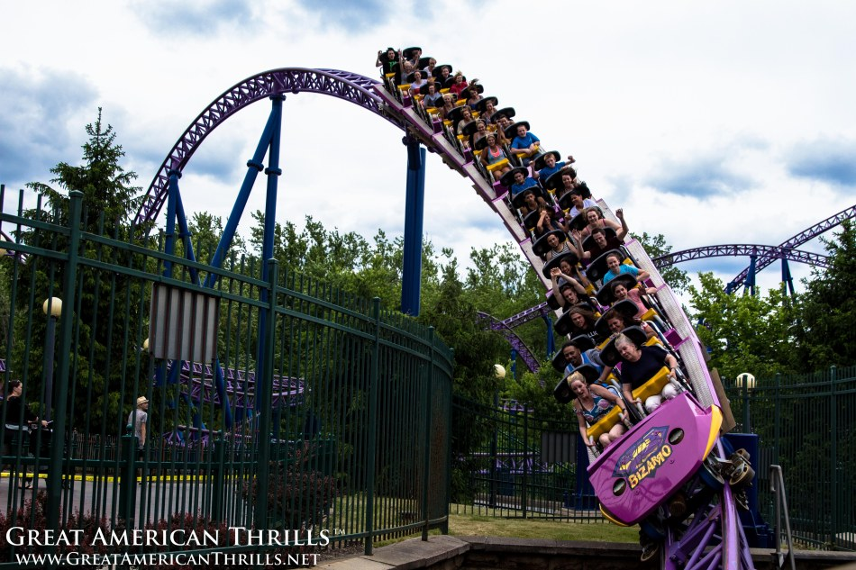Bizzaro at Six Flags New England. Photo (c) 2013, Great American Thrills and Kris Rowberry