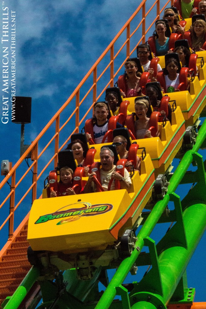 Boomerang at Six Flags St. Louis. Photo (c) 2013 Kris Rowberry and Great American Thrills