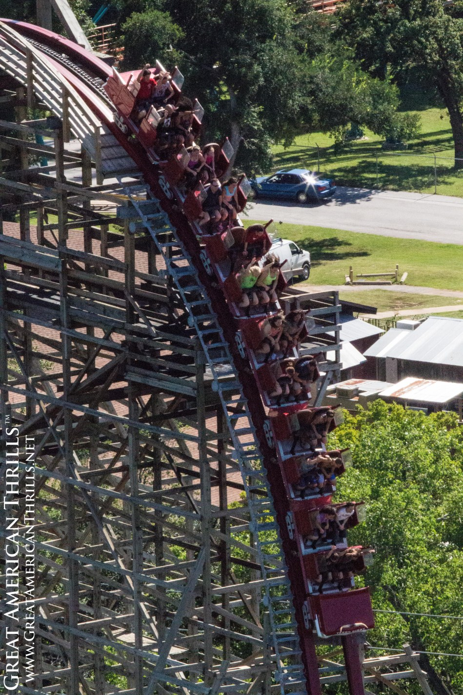 New Texas Giant at Six Flags Over Texas. Photo (c) 2013 Great American Thrills and Kris Rowberry.