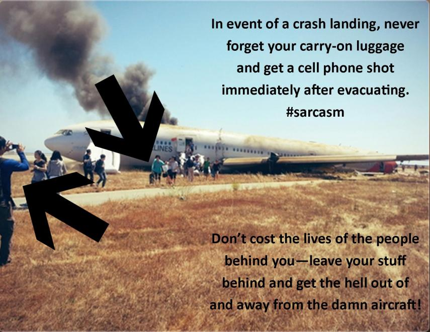 How to Not Evacuate an Aircraft.