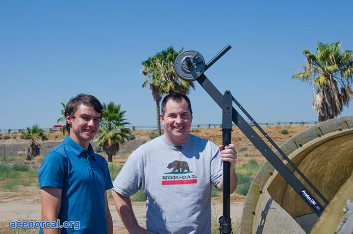Producer Nicholas and I with our new favorite tool, a ProAm USA DVC 60 camera crane. Thank you Facebook contests!