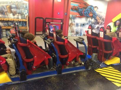 Superman Train Modifications, Six Flags Discovery Kingdom