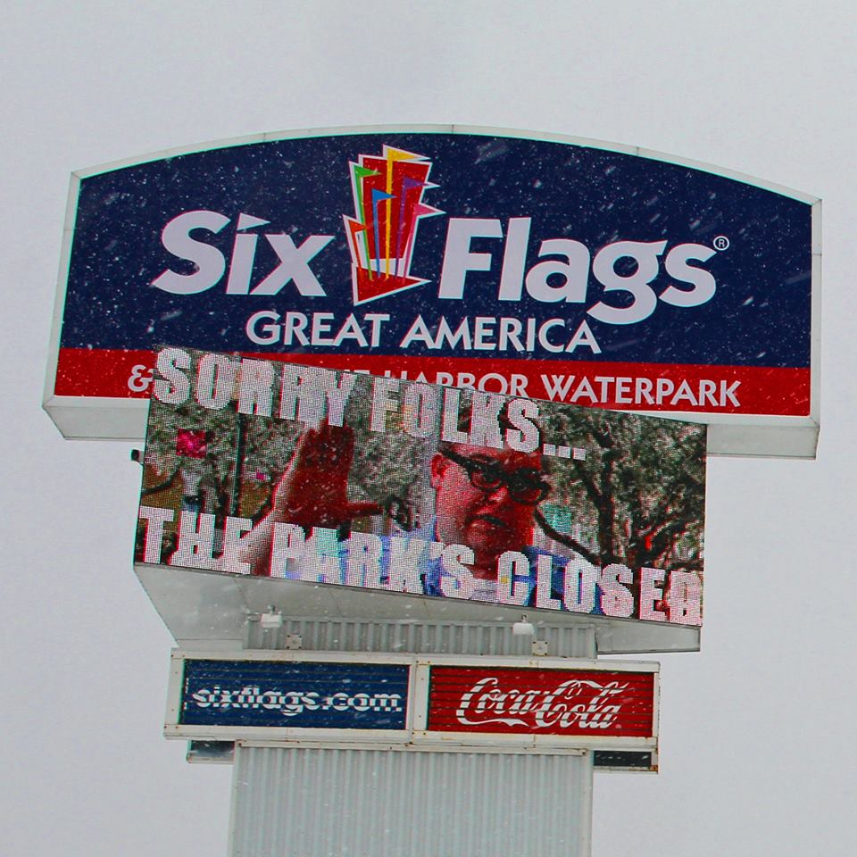 Six Flags Great America funny signage