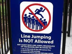 line-jumping