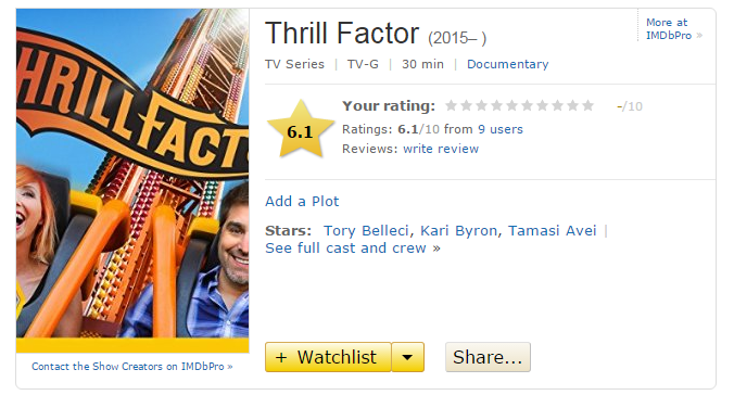Thrill Factor IMDB