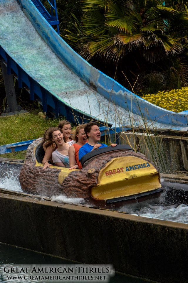 There is no better place to snap a funny photo than the log flume...