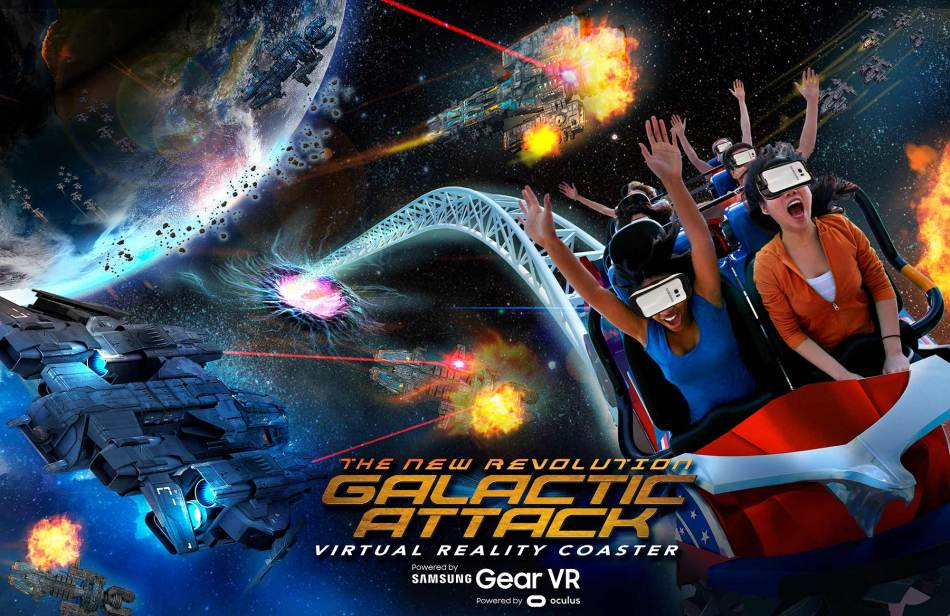 Galactic Attack VR Coaster